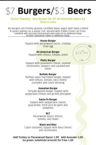 Just to give you an idea about the menu. This came from the website itself.